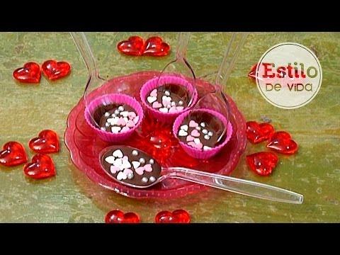 Cucharas de chocolate ¡Rápidas y fáciles!