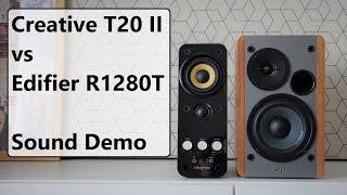 Edifier R1280T vs Creative T20 Series II      Sound Demo