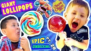 GIANT CHUPA CHUPS LOLLIPOPS vs. TOY!  Smash w/ Candy (Skylanders Imaginators Epic Unboxing Pt. 28)