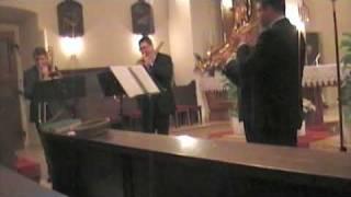 preview picture of video 'Blechbläserquartett A Quattro Voci J.S. Bach, Marsch: Auf, schmetternde Töne der Trompeten'