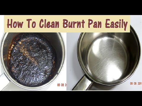 DIY How to Clean Burnt Pan Easily-Useful Kitchen Tip-Easiest Way to Clean a Burnt Pan or Pot