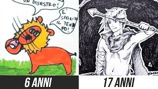 I miei disegni dai 6 ai 17 anni (video sciallo) 🐸 Fraffrog