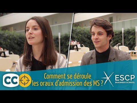 L'oral : PGE ESCP Business School