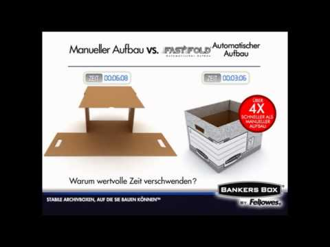 Archivcontainer Fellowes Bankers Box,System, mit Deckel, grau/weiß, stapelbar