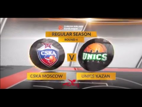 EuroLeague Highlights RS Round 4: CSKA Moscow 98-80 Unics Kazan