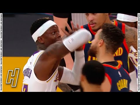 Stephen Curry & Dennis Schroder HEATED Moment – Warriors vs Lakers | February 28, 2021