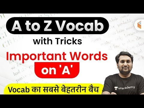 "English Vocabulary Important Words on ""A"" 