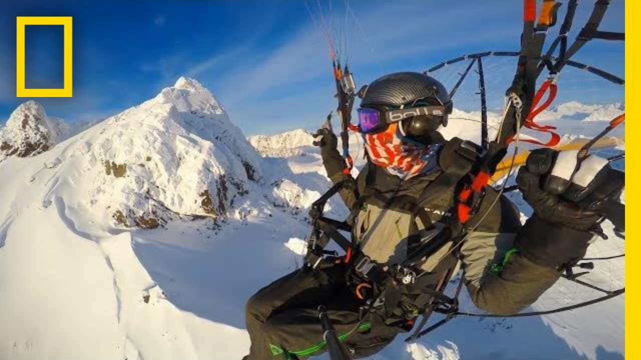 Paramotor Flight Over Alaska's Chugach Mountains and Knik Glacier | National Geographic thumbnail