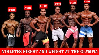 OFFICAL HIEGHT AND WEIGHT OF MENS PHYSIQUE ATHLETES AT THE 2020 MR OLYMPIA PART 1