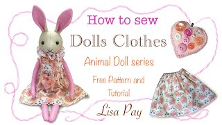 How To Sew Simple Dolls Clothes   FREE PATTERN!