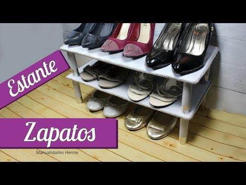estante para zapatos casero