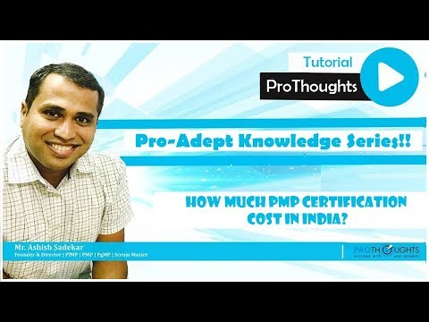 How Much PMP Certification Cost In India? - Pro-Adept Knowledge ...