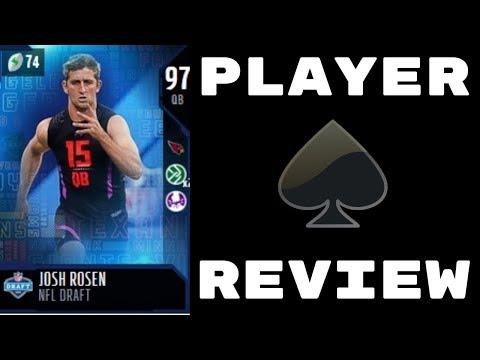 NFL Draft Josh Rosen   Player Review   Madden 18 Ultimate Team Gameplay