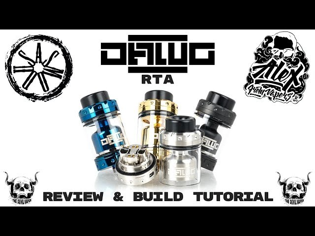 Asmodus & VapersMD Dawg RTA Review & Build Tutorial - What an AMAZING RTA!!