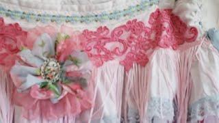 Shabby Chic Skirt, Tattered Hippie Boho Gypsy Rags