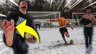HÄRTESTE & KÄLTESTE FUßBALL CHALLENGE! (KEIN TOR = AUSZIEHEN)
