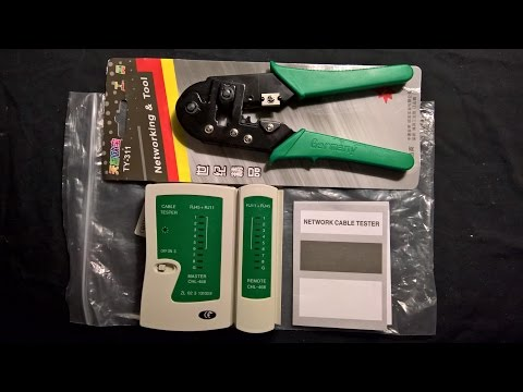 RJ45 RJ11 Ethernet Cat5 Network LAN Cable Tester and Crimper Testing