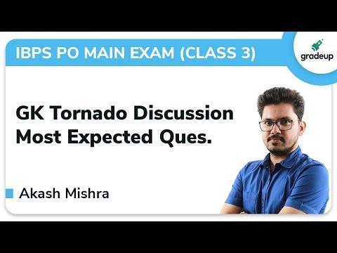 GK Tornado for IBPS PO Main Exam | Class 3 | General Knowledge | Gradeup