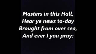 Masters in This Hall LYRICS WORDS Nowell, Sing We Clear French Christmas carol SING ALONG SONGS
