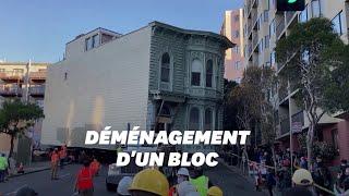 W San Francisco ten wiktoriański dom został przeniesiony o kilka ulic.