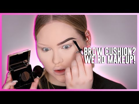 TESTING THE WEIRDEST BROW PRODUCT: Eyebrow Cushion?!