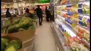 Пожарная тревога в супермаркете
