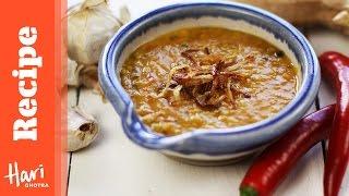 Red Lentil Dhal Recipe