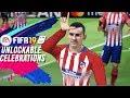 FIFA 19 ALL UNLOCKABLE CELEBRATIONS TUTORIAL