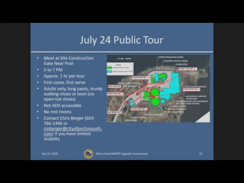 Peirce Island Wastewater Treatment Facility Public Meeting 7.18.18