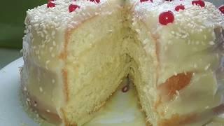 Бисквитный пирог с заварным кремом