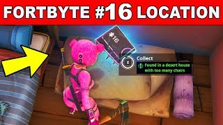 FOUND IN A DESERT HOUSE WITH TOO MANY CHAIRS - Fortnite Fortbyte #16 Location Guide