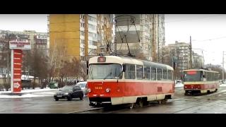 Kiev.High-speed Tram 5k goes back.All route./Киев.Скоростной трамвай 5к едет обратно.Весь маршрут.