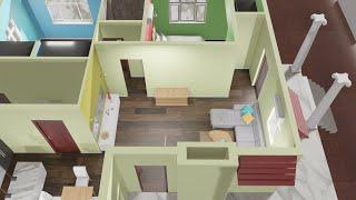 2BHK 3D Home Plan || Full Walkthrough || 3D Design