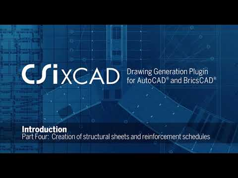 Creation of structural sheets and reinforcement schedules