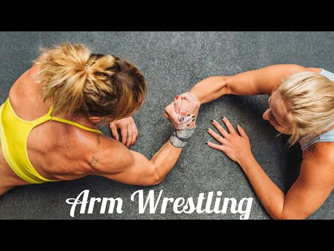 Female Arm Wrestling | Muscle Woman | Fitness Model | Sexy Girls