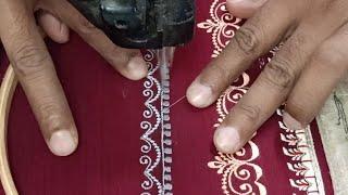 Free Hand Design By Qaish Machine Embroidery। कढ़ाई मशीन द्वारा बनाया गया डिज़ाइन