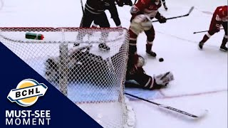 Must-See Moment: Josh Dias sprawls out for a Dominik Hasek-style save