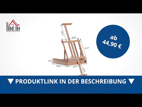 Homcom Staffelei Kofferstaffelei Tischstaffelei Maler Buchenholz - direkt kaufen!
