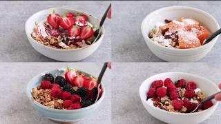 Granola & Yogurt Bowls (4 Ways)