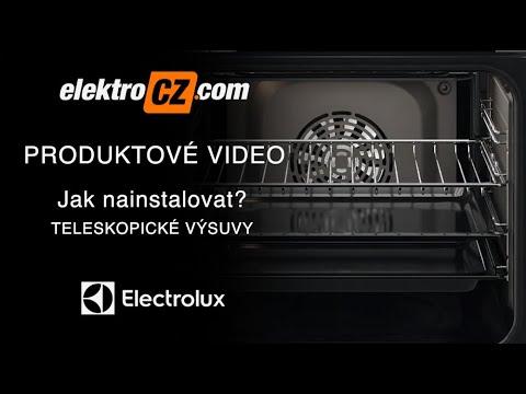 Jak nainstalovat teleskopické výsuvy do parní trouby Electrolux