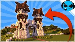How To Build A Medieval Gate Minecraft Tutorial