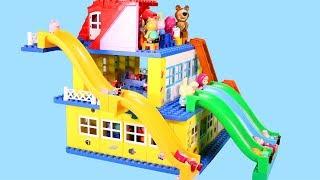 Peppa Pig Blocks Mega House Construction Sets - Lego Duplo House Creations Toys For Kids #5