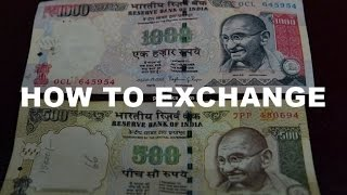How to Exchange Banned 500 And 1000 rupees [Hindi]