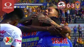 Resumen Lobos BUAP 0 - 3 Tigres   Clausura 2019 - Jornada 14   Presentado Por Corona