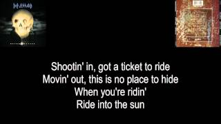 "Def Leppard - ""Ride Into The Sun"" 