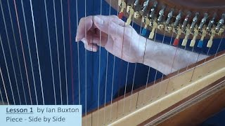 Celtic Harp Lesson 1 for beginners by Ian Buxton