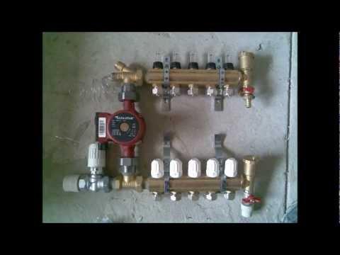 Монтаж системы отопления: теплый пол