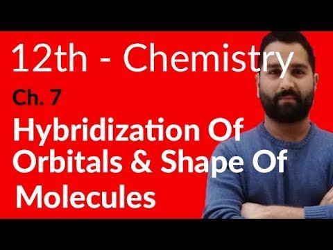 Fsc Chemistry book 2, Ch 7 - Hybridization of Orbitals & Shape of Molecules - 12th Class Chemistry