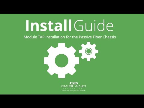 Install Guide: Modular TAP installation for the Passive Fiber Chassis