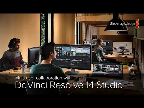 Multi user collaboration with DaVinci Resolve Studio